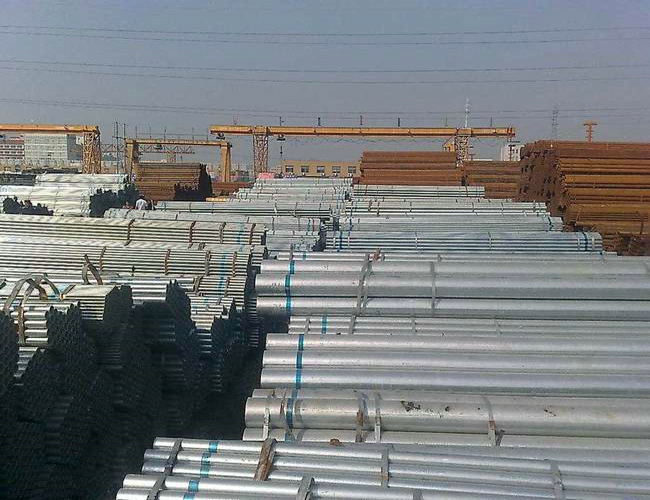 Zinc coated surface hollow section pipe