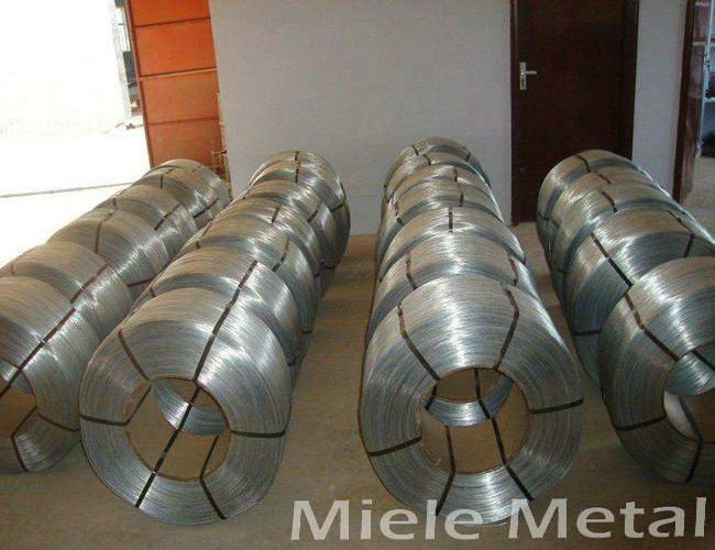 SS330 SPHC iron steel wire with zinc coated